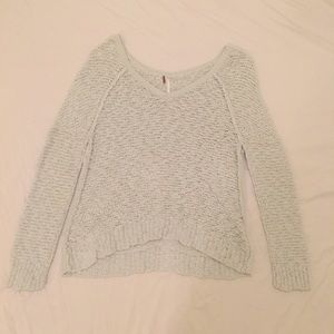 Free People mint green sweater